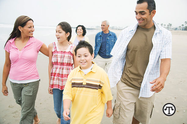 Enjoy a family walk. Physical activity provides health    benefits across your life span.