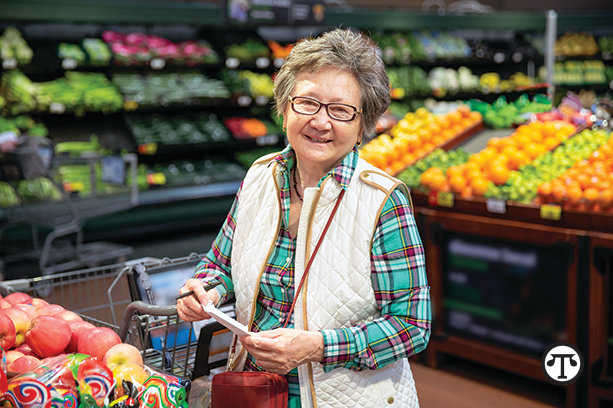 Older shoppers can save big on groceries with a new program that lowers costs and identifies healthful options right in the store.