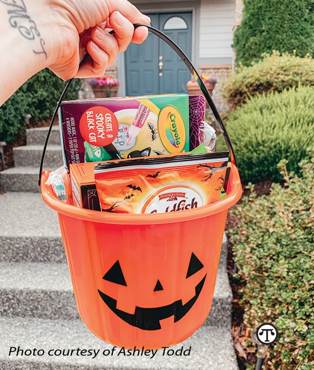 Lifestyle expert Ashley Todd suggests creating Boo Baskets to share with family and friends.