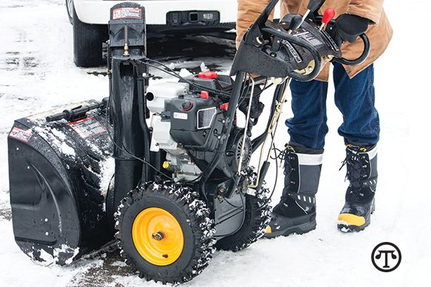Check your snow blower carefully before using it every time.