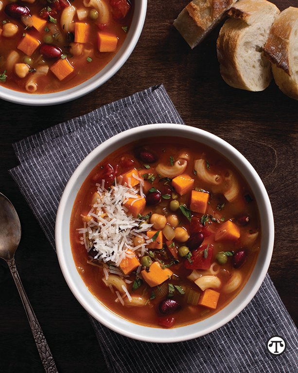 Easy Sweetpotato Minestrone Soup—California Style