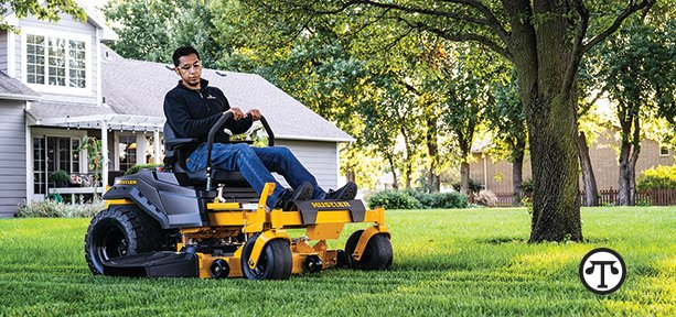 A few simple steps to find the right mower for you. Pictured: Hustler Turf's Raptor